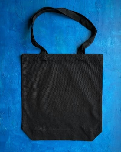 8oz Black Canvas Bag B