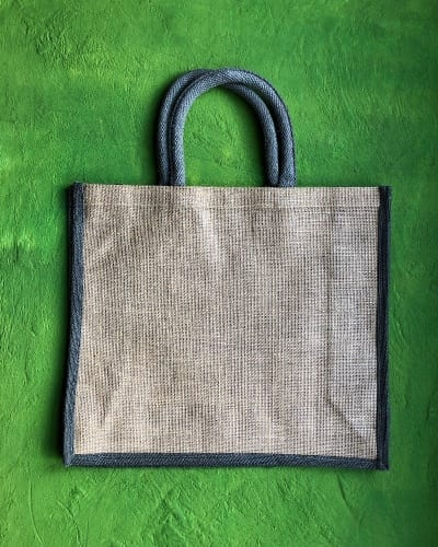 Jute Two Tone Gusseted Shopper
