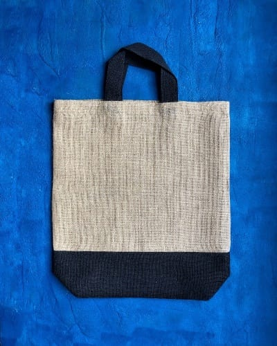 Jute Two Tone Shopper