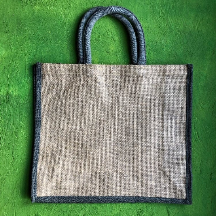 Jute Two Tone Gusseted